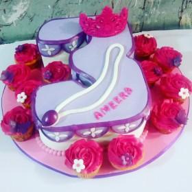 Sofia number cake